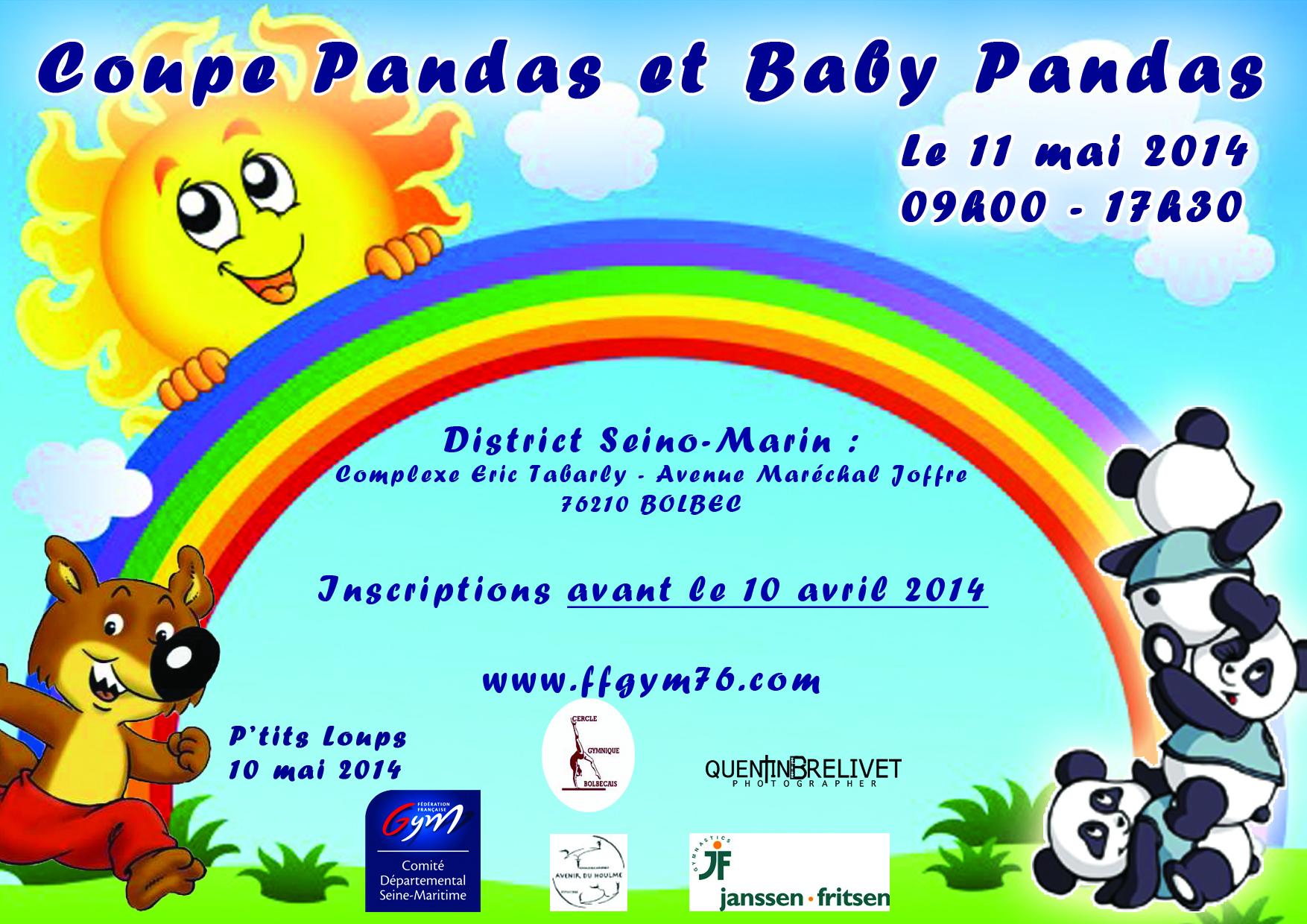 Coupe panda babys pandas et p tits loups