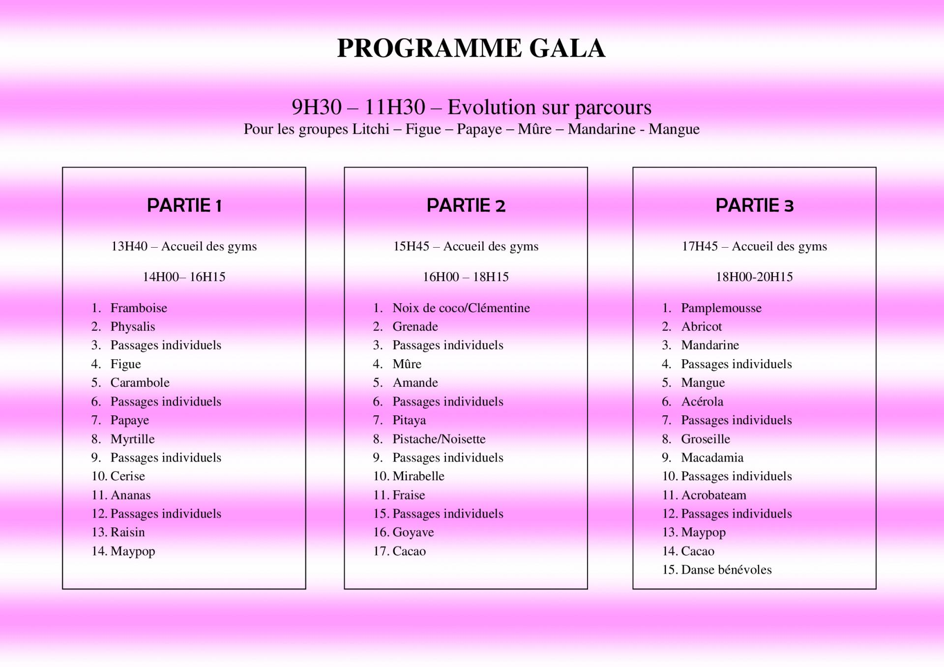 Programme gala